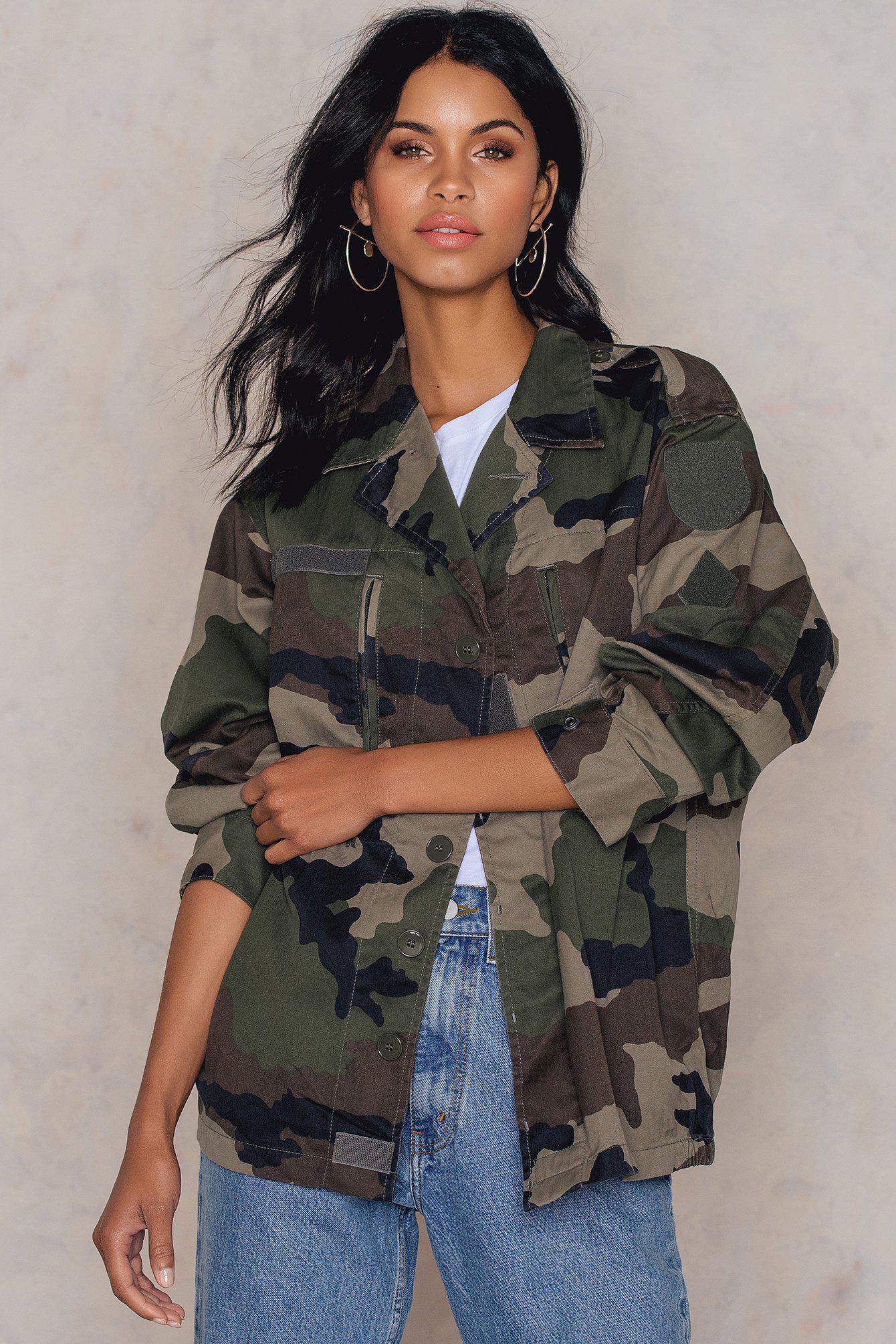 Винтажная куртка Army NA-KD 1083-27 Камуфляж Free Style