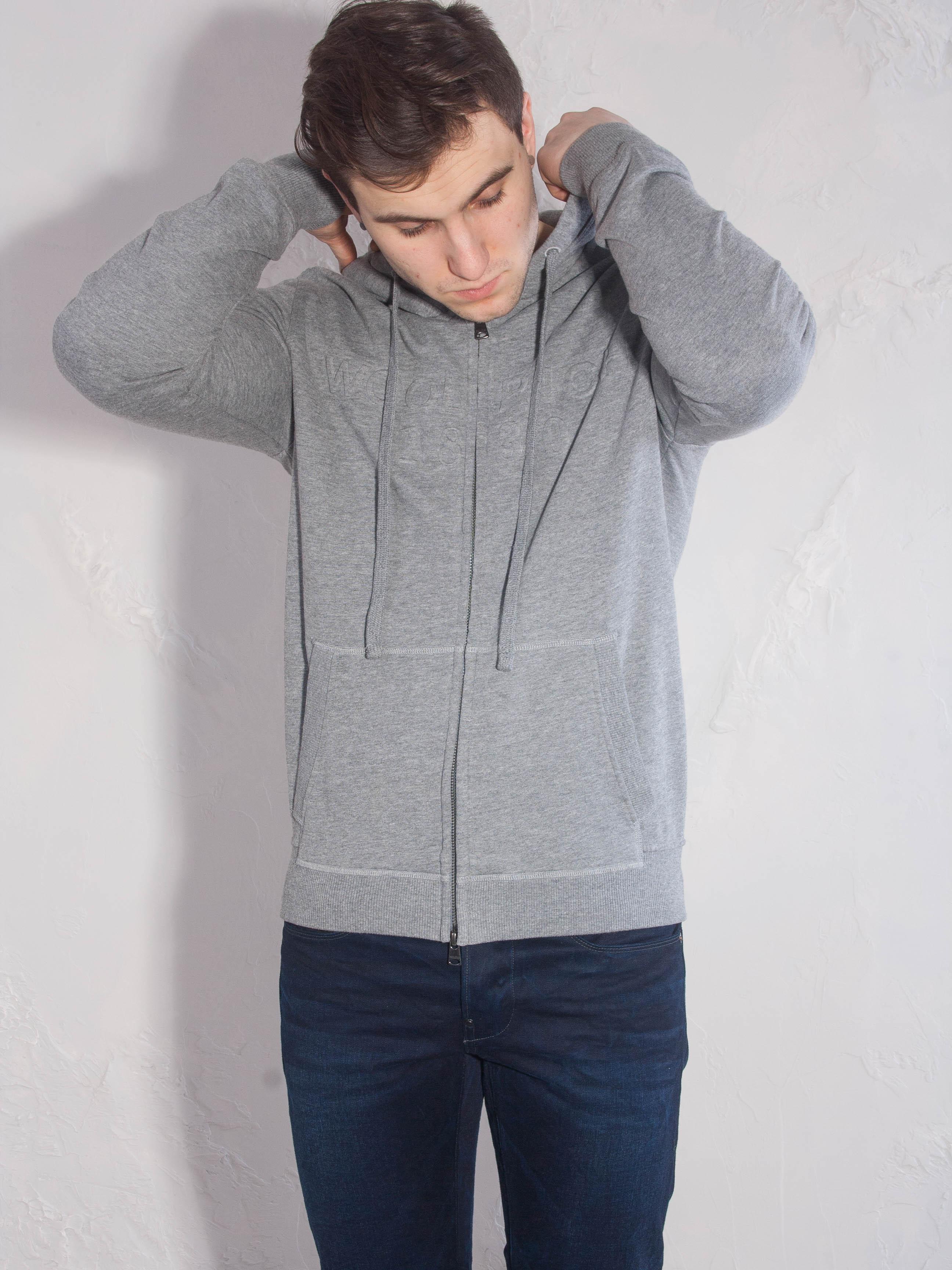 Худи на молнии Woolrich Серый Free Style