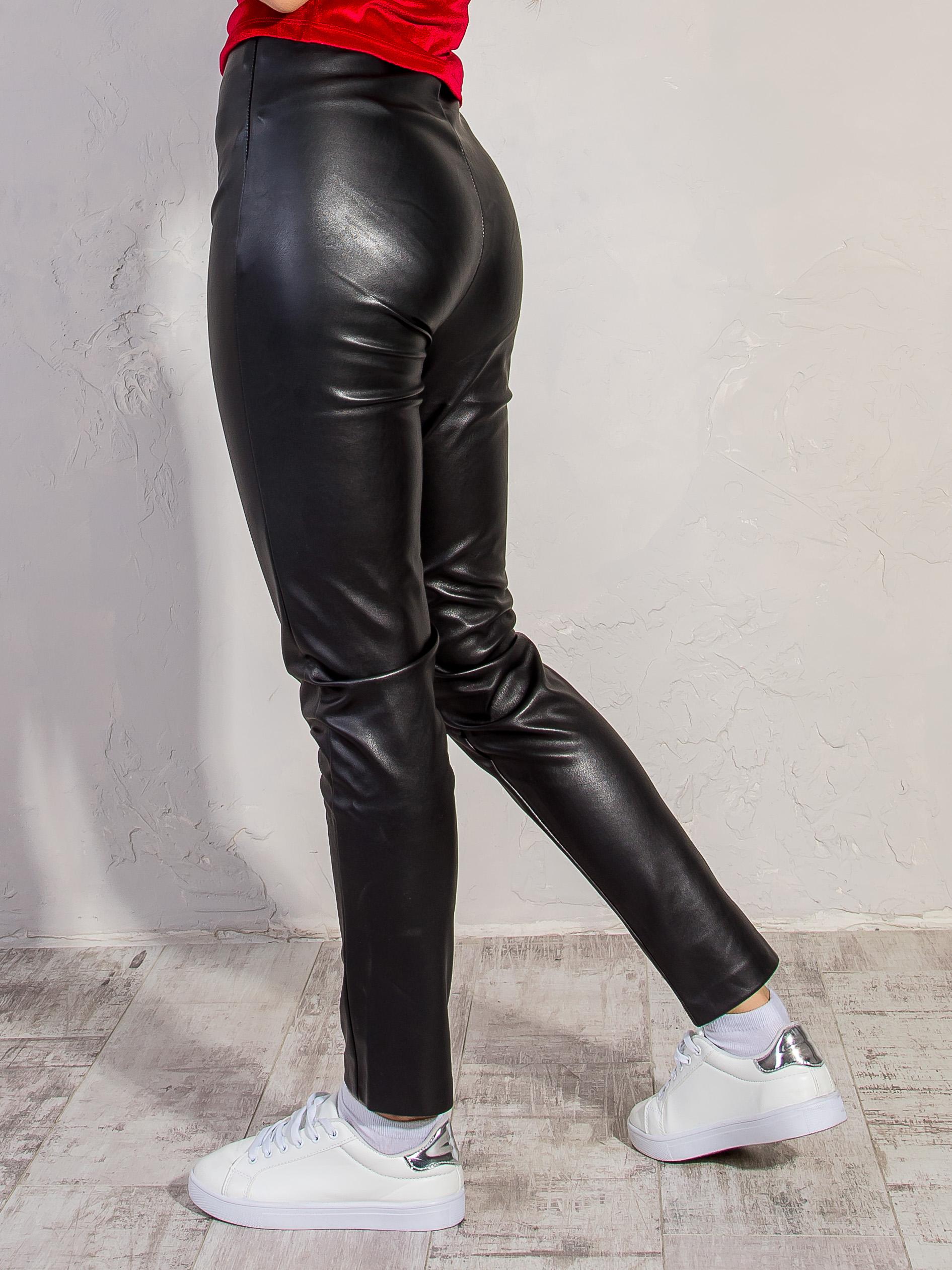 Брюки из эко-кожи BEBE PLUS 20585 Черный Free Style