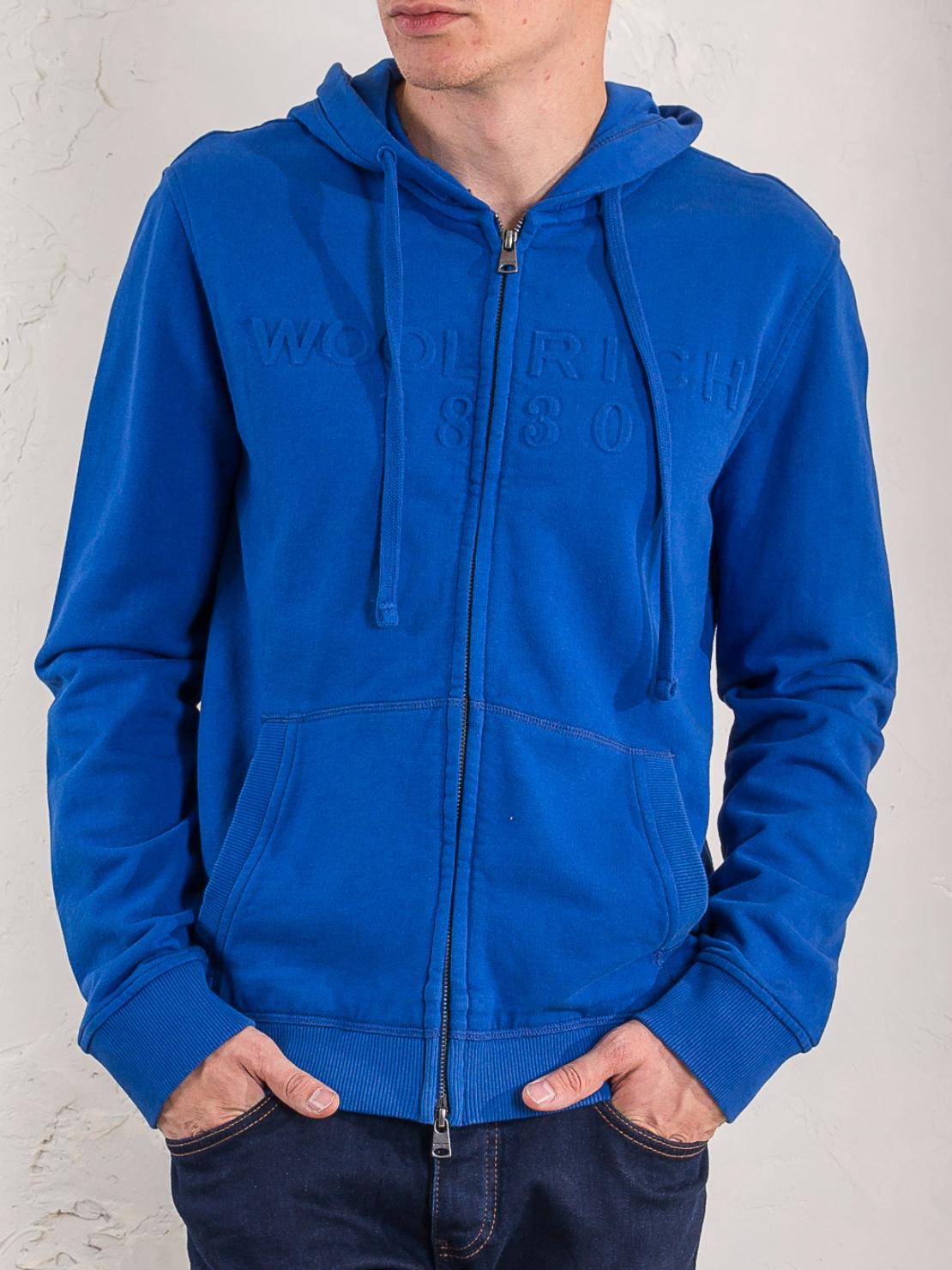Худи Woolrich N03101-67 Синий Free Style