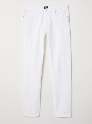 Джинсы H&M 0411758 Белый Free Style
