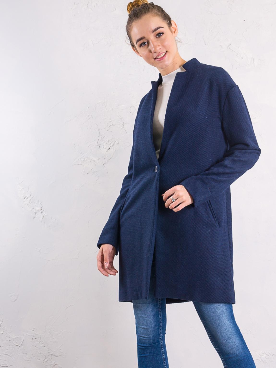 Пальто шерстяное Alcott Синий Free Style