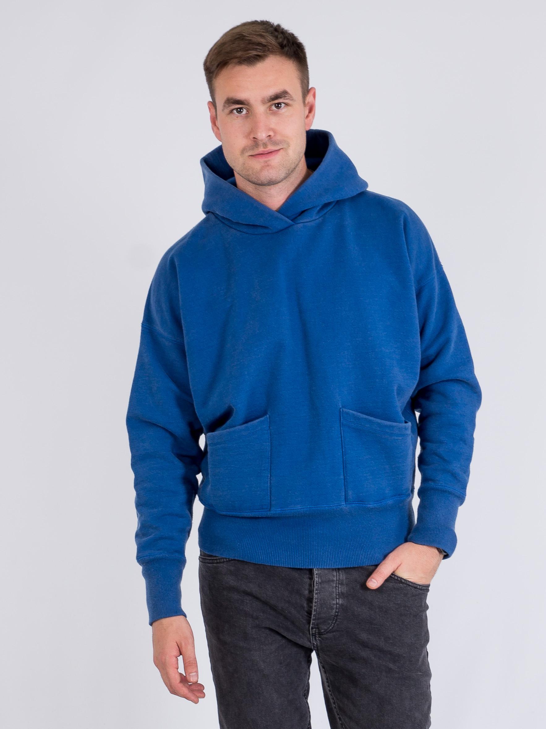 Худи с 2 карманами Синий Free Style