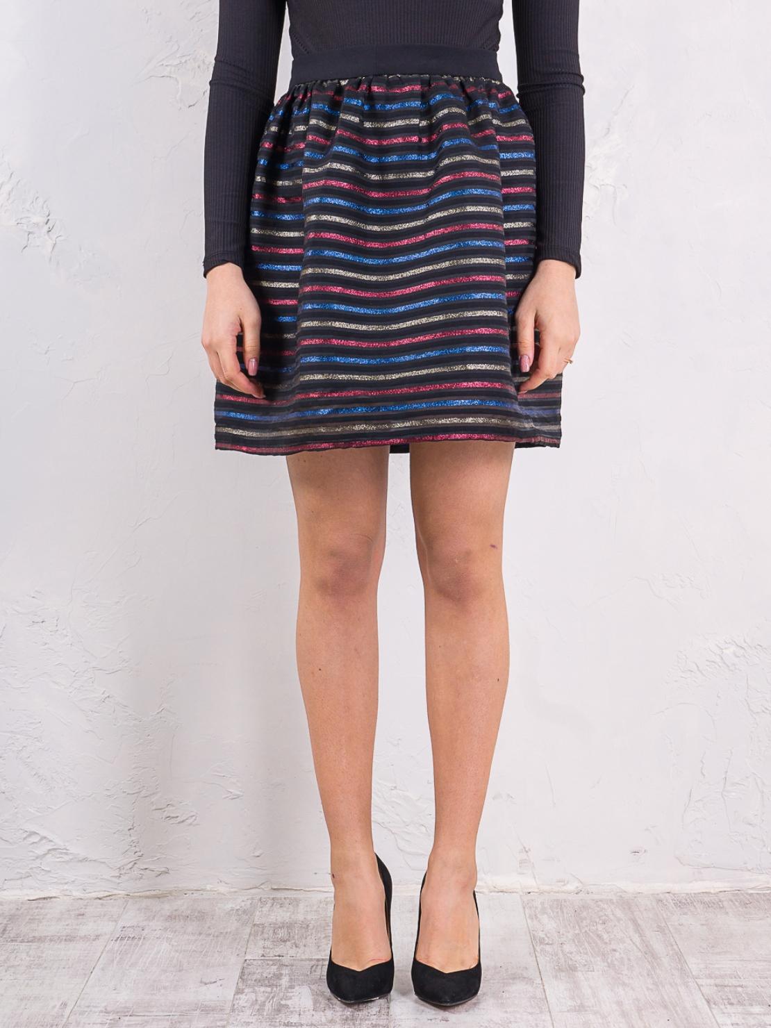 Юбка в яркую полоску Sarah Chole 001T63240342 Черный Free Style