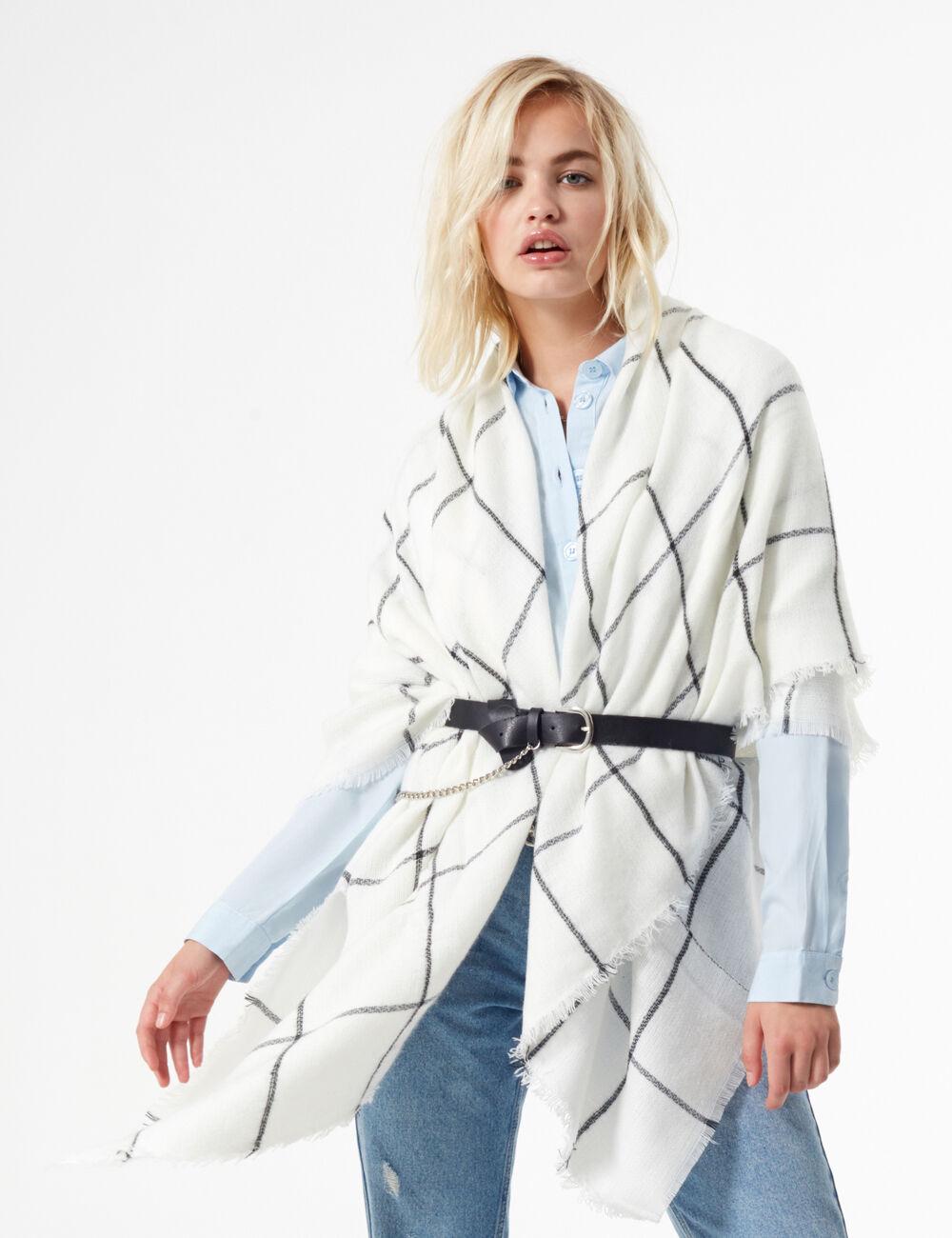 Шарф Jennyfer 90rega Белый Free Style