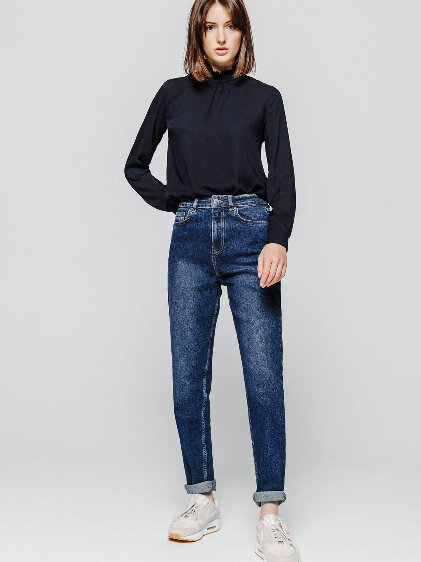 джинсы  MOMЫ с высокой талией Bizzbee 121219-3 S Синий Free Style