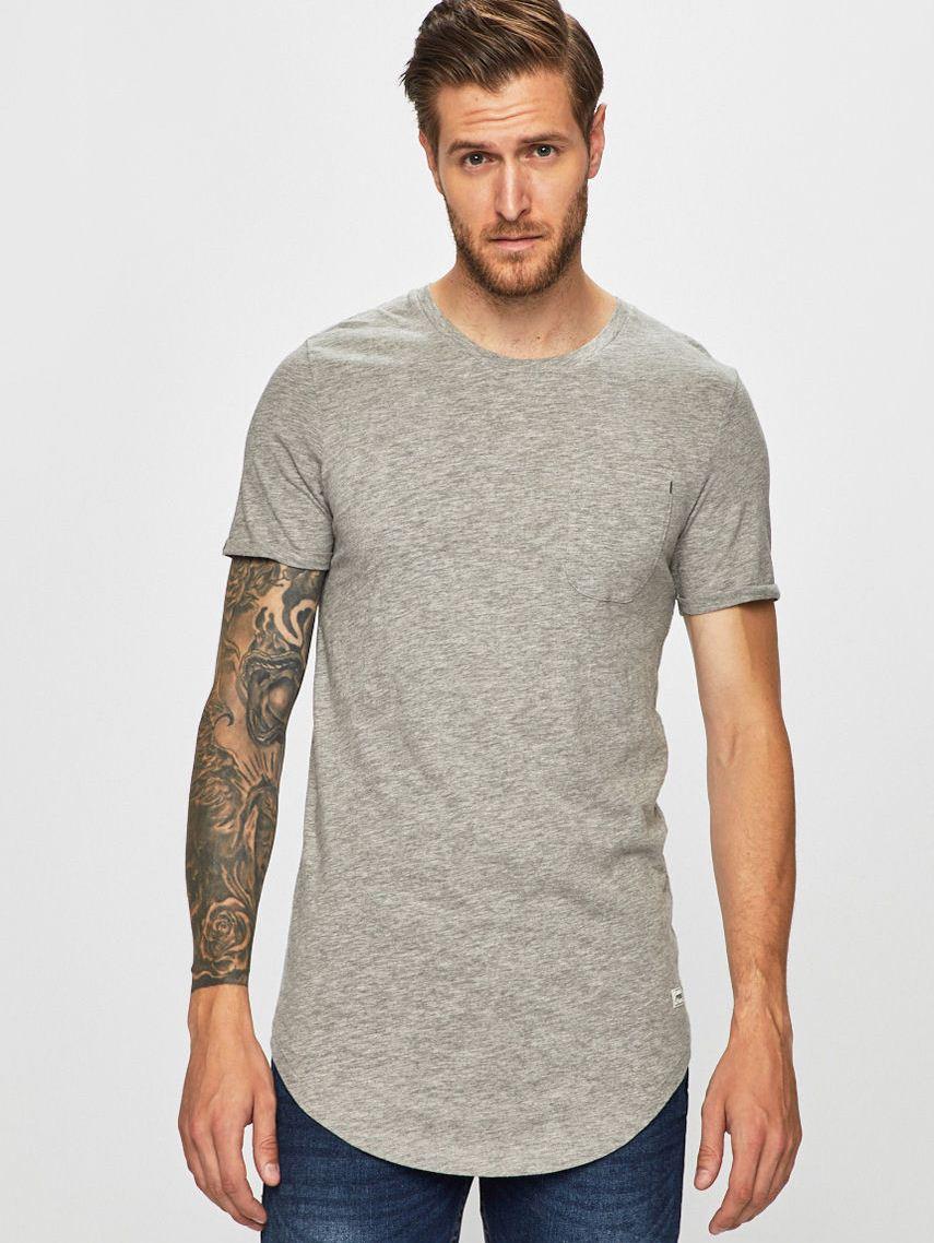 Удлиненная футболка Jack & Jones 12130040 Серый Free Style