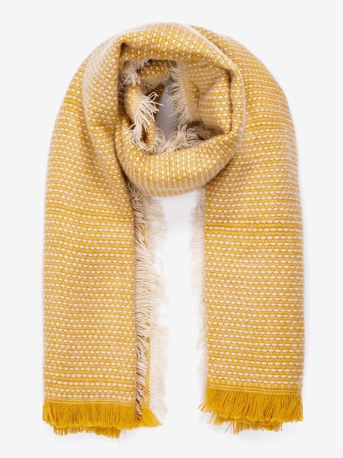 Шарф с бахромой Jennyfer Желтый Free Style