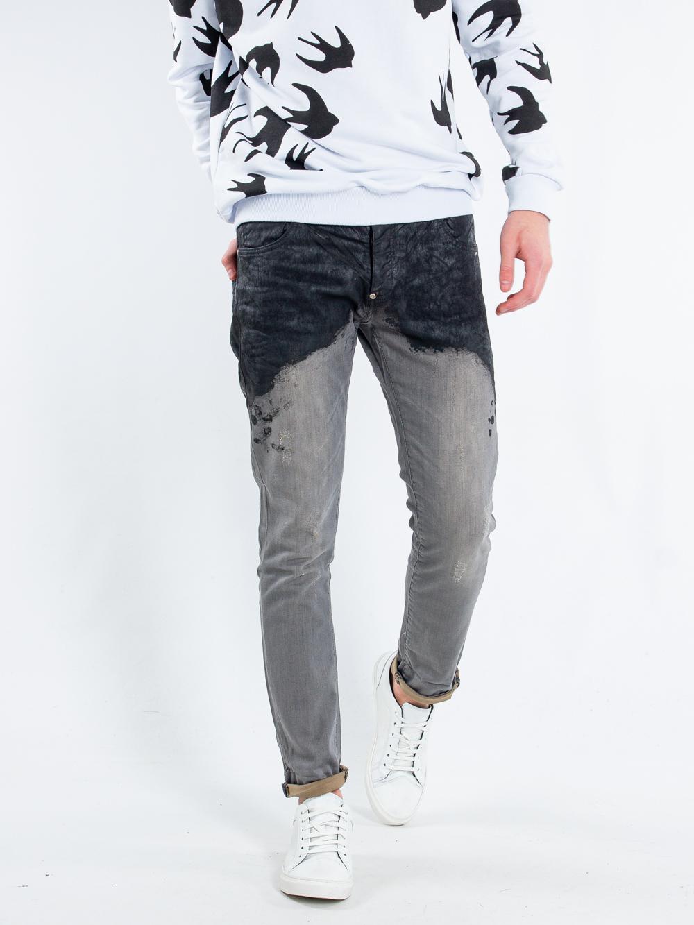 Джинсы MNML 7327 СерыйЧерный Free Style
