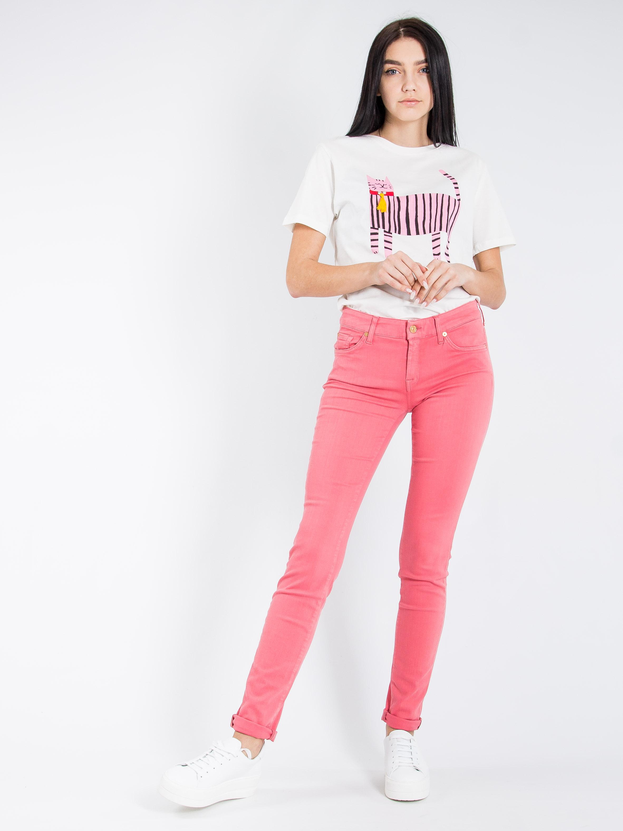Джинсы 7 For All Mankind Розовый Free Style