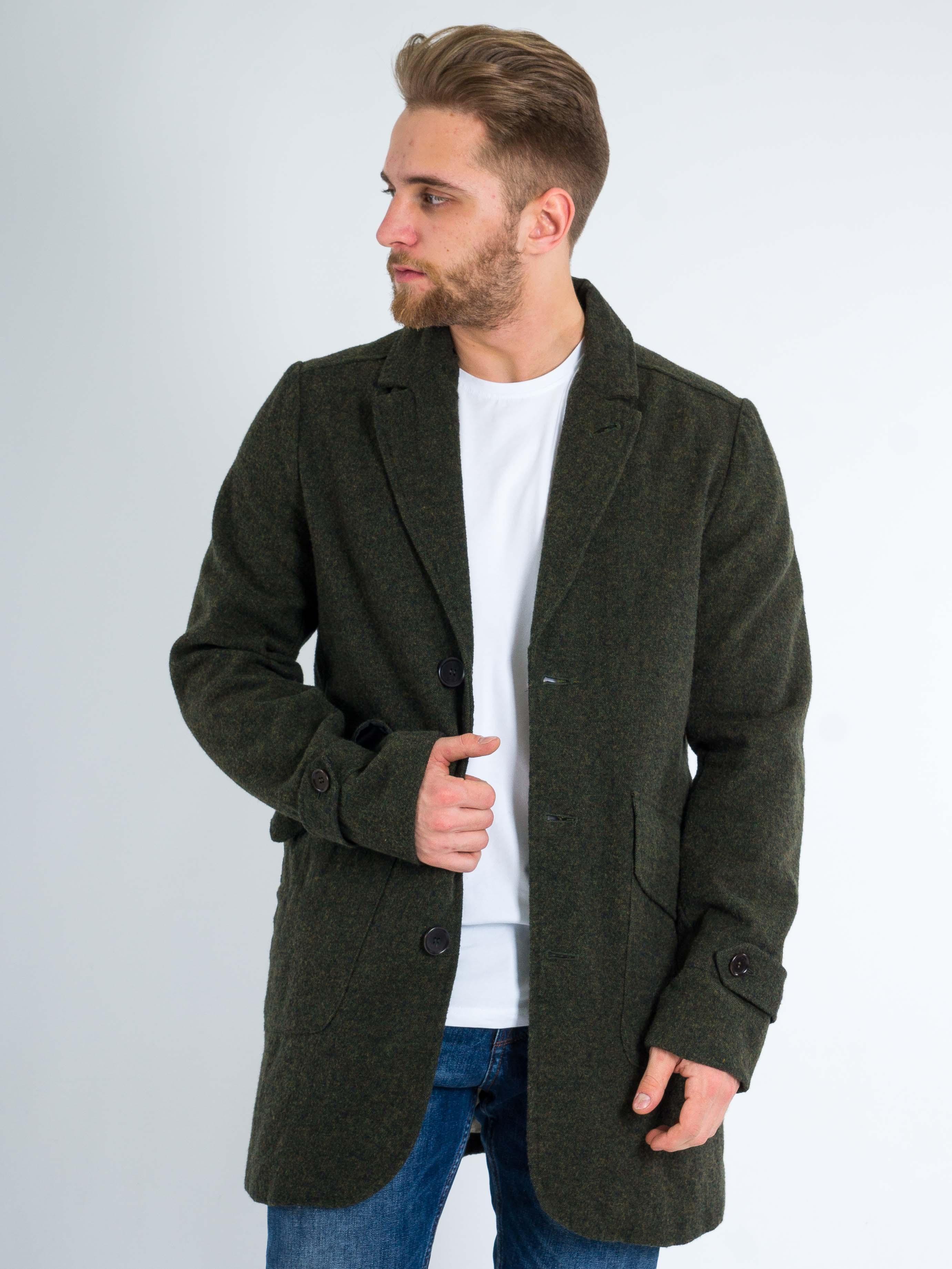 Шерстяное пальто AD HOC Хаки Free Style