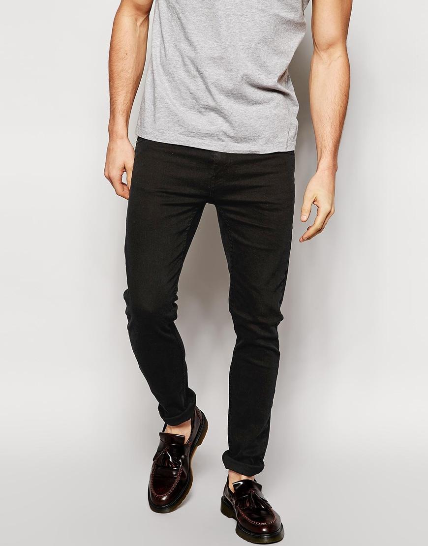 Черные облегающие джинсы Cheap Monday Черный Free Style