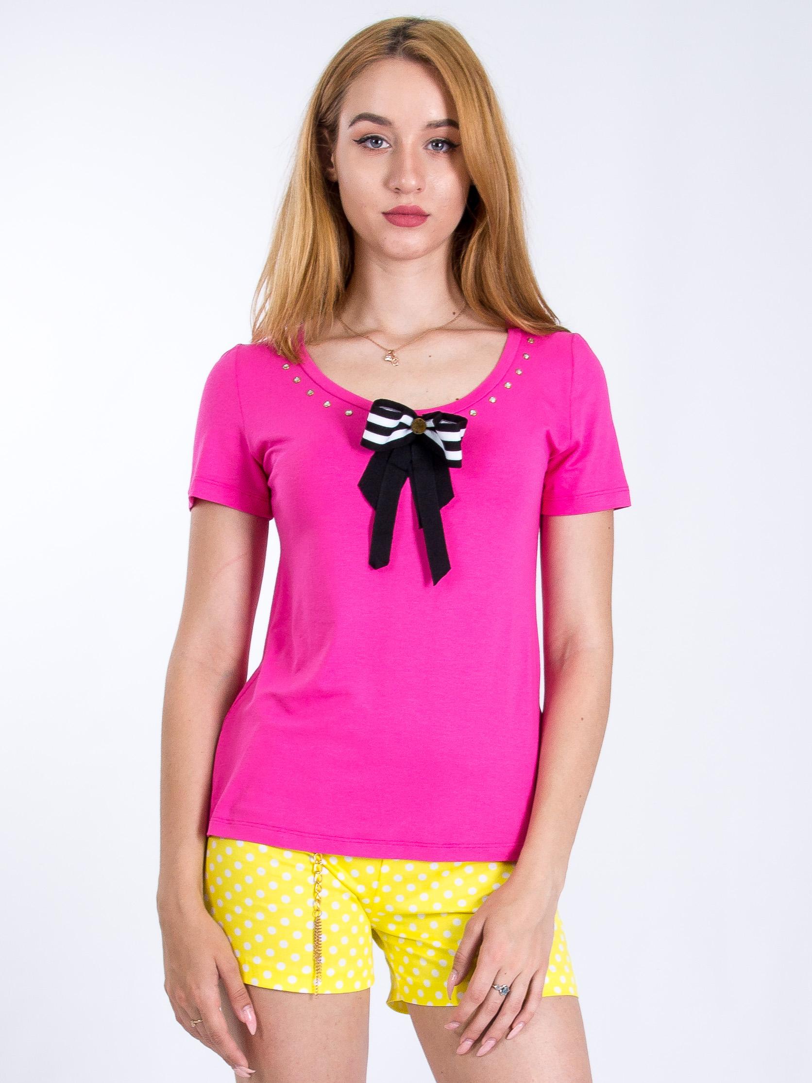 Футболка с бантом Sarah Chole 11472 Розовый Free Style