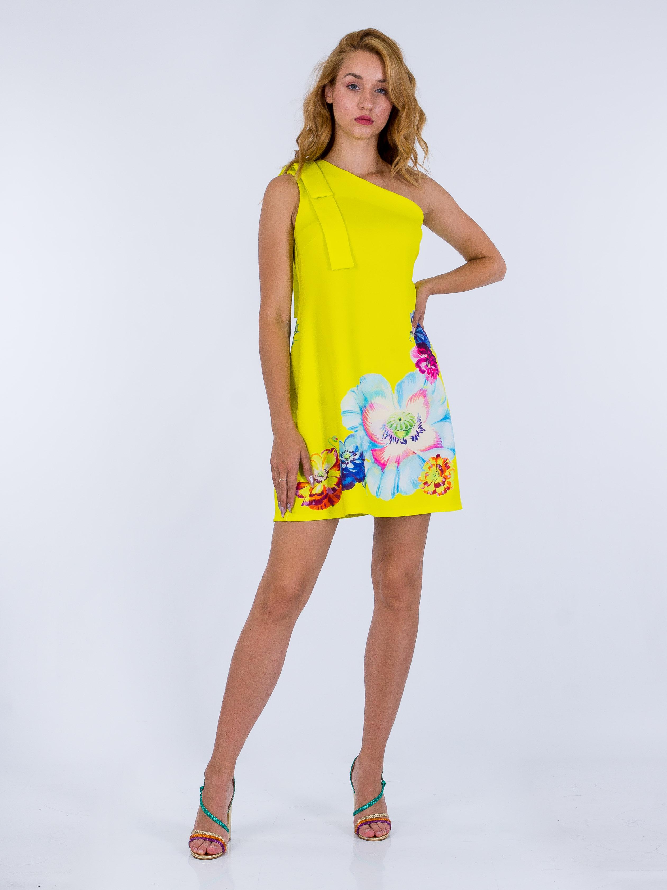 Яркое платье с принтом ASOS AS/N/240720-6 Желтый Free Style