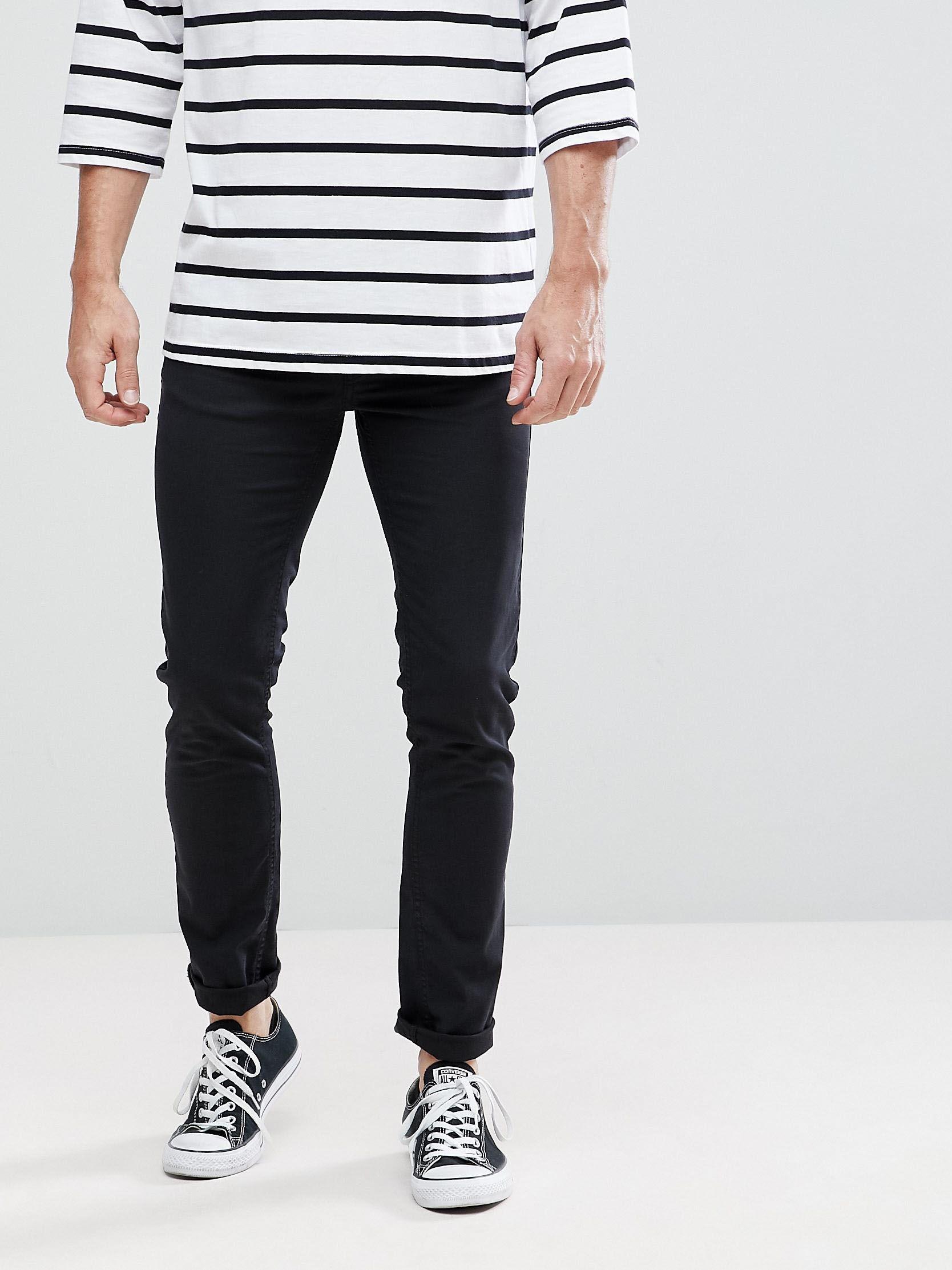Черные джинсы скинни с логотипом Love Moschino Черный Free Style
