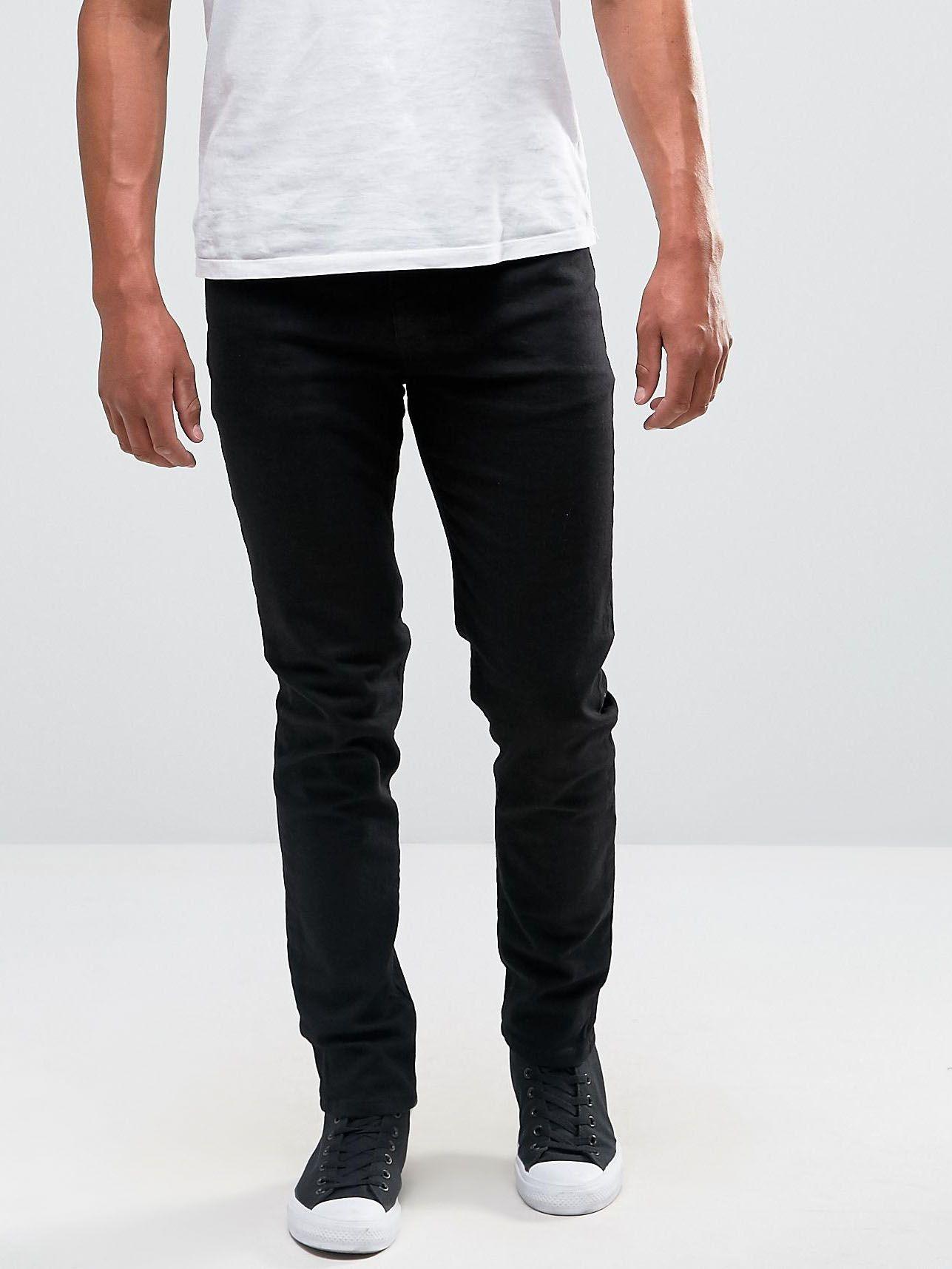 Черные джинсы скинни ASOS Черный Free Style