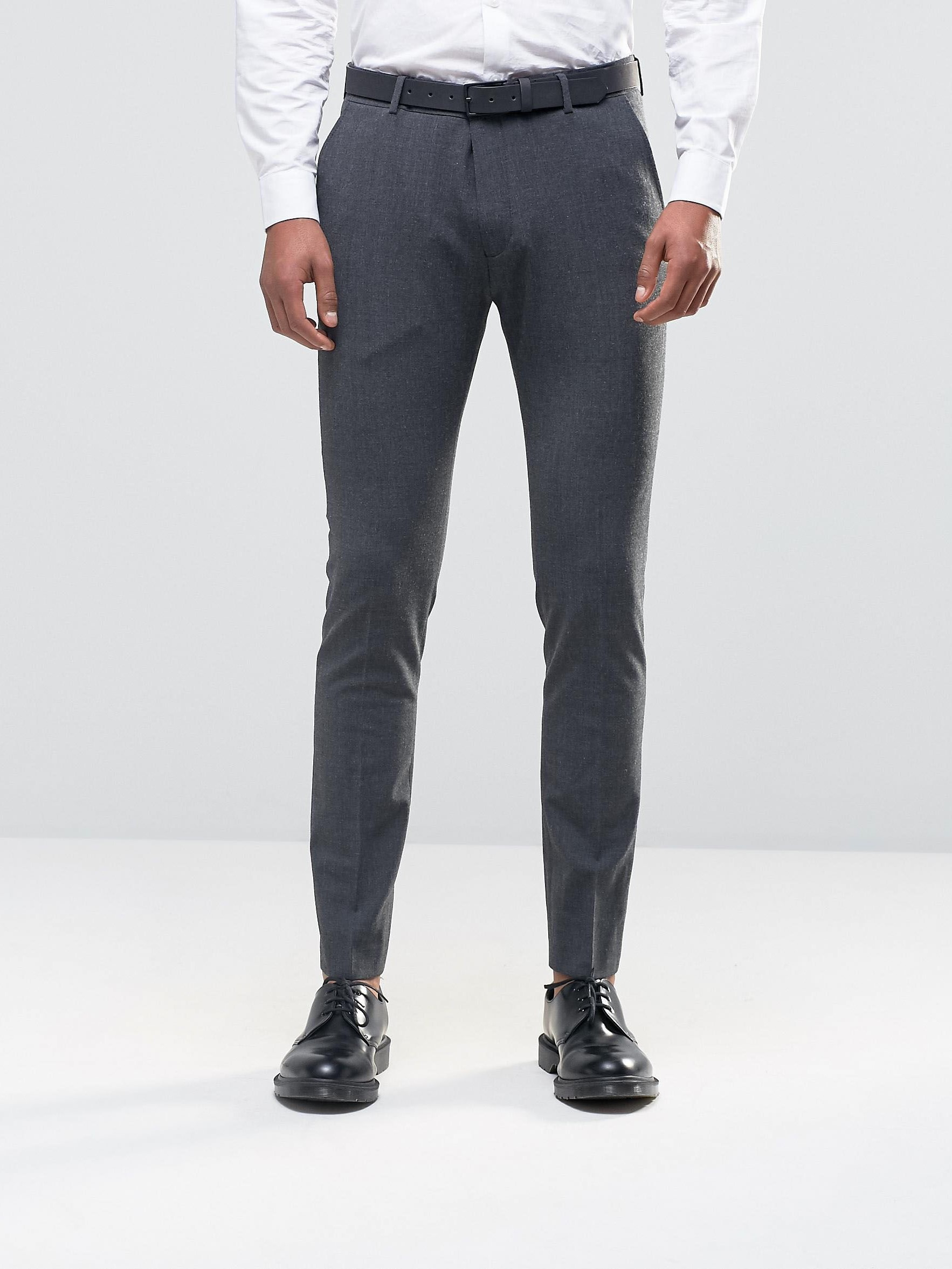 Узкие брюки Selected ASA040920-3 Серый Free Style