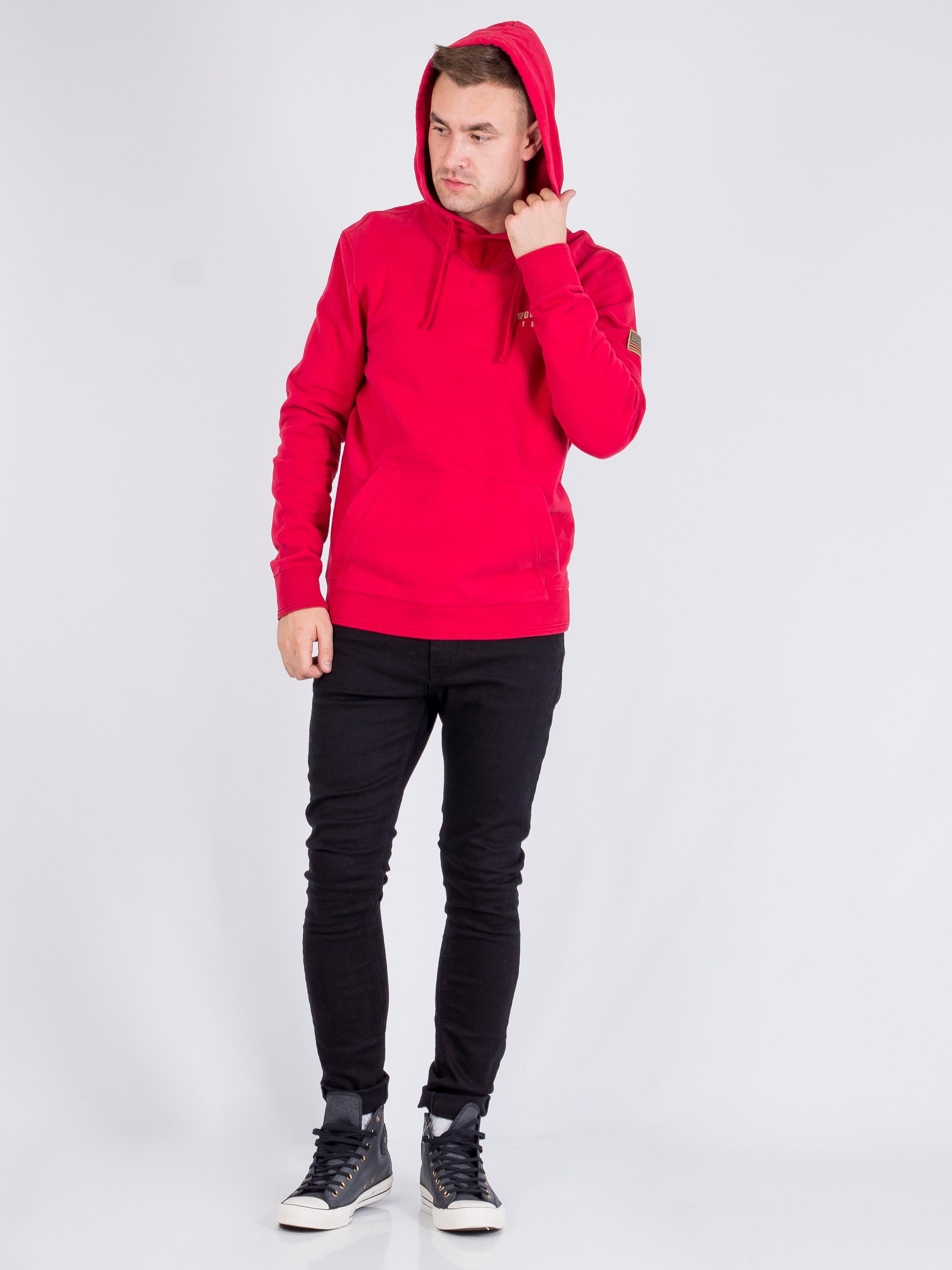 Худи Woolrich Красный Free Style