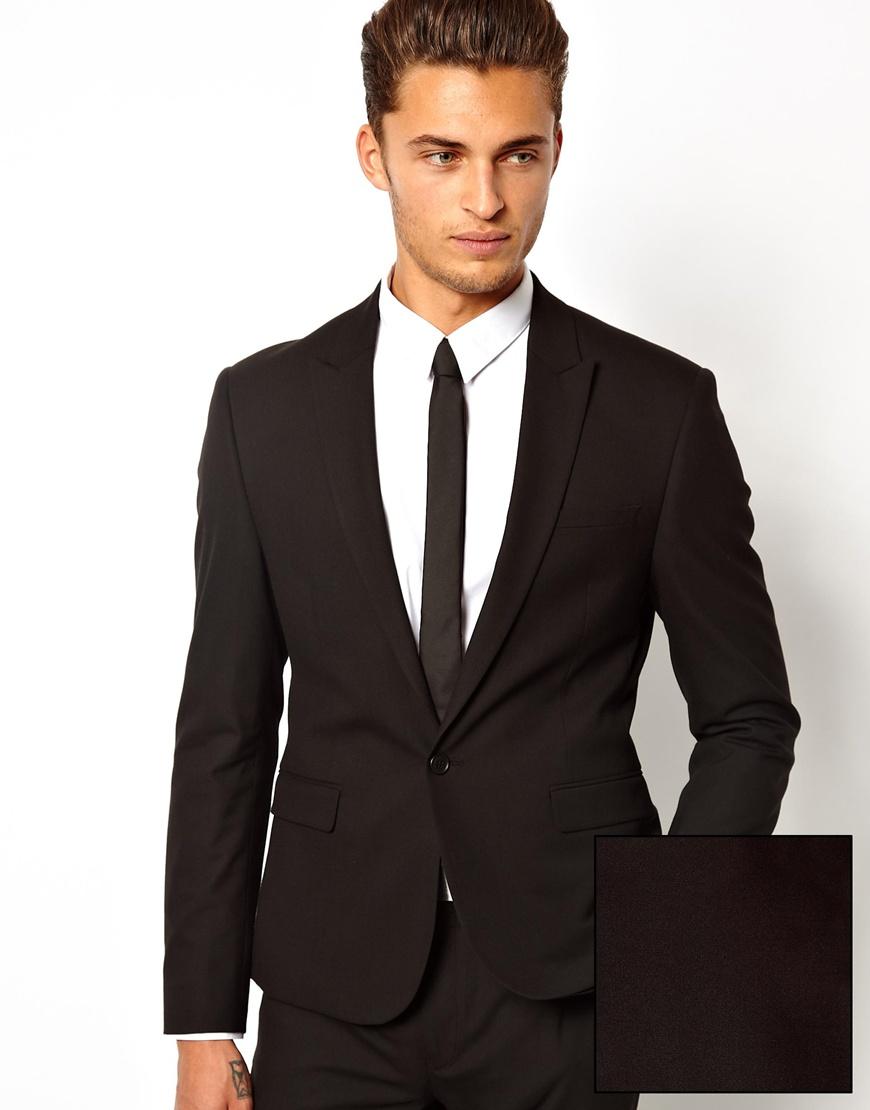 Черный пиджак приталенного кроя ASOS Черный Free Style