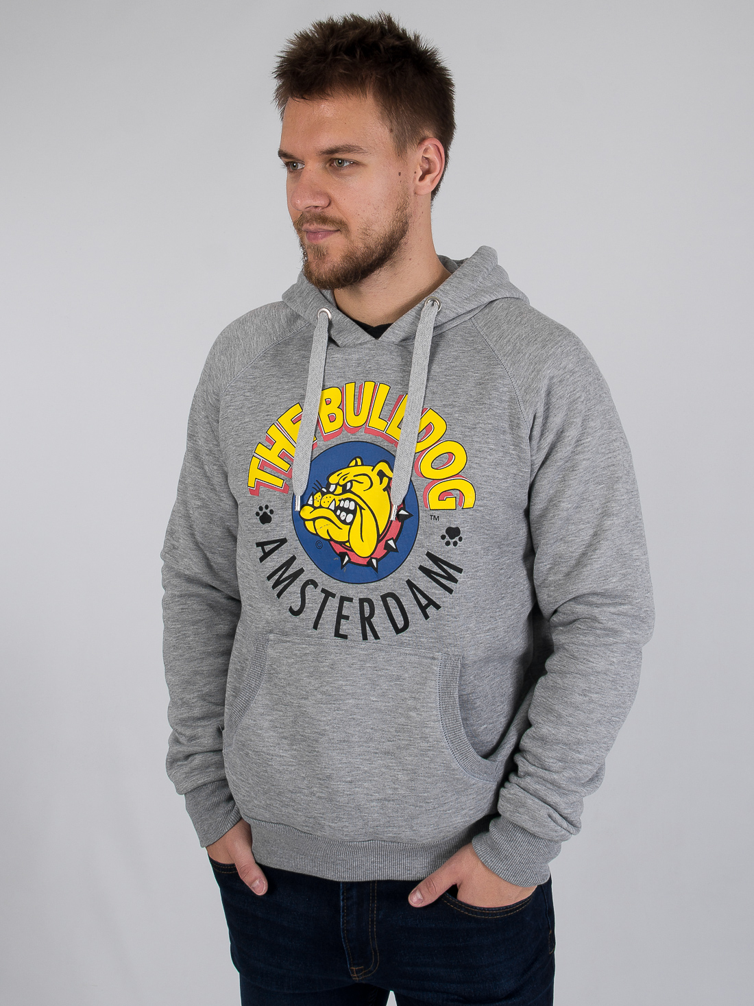 Худи The Bulldog Серый Free Style