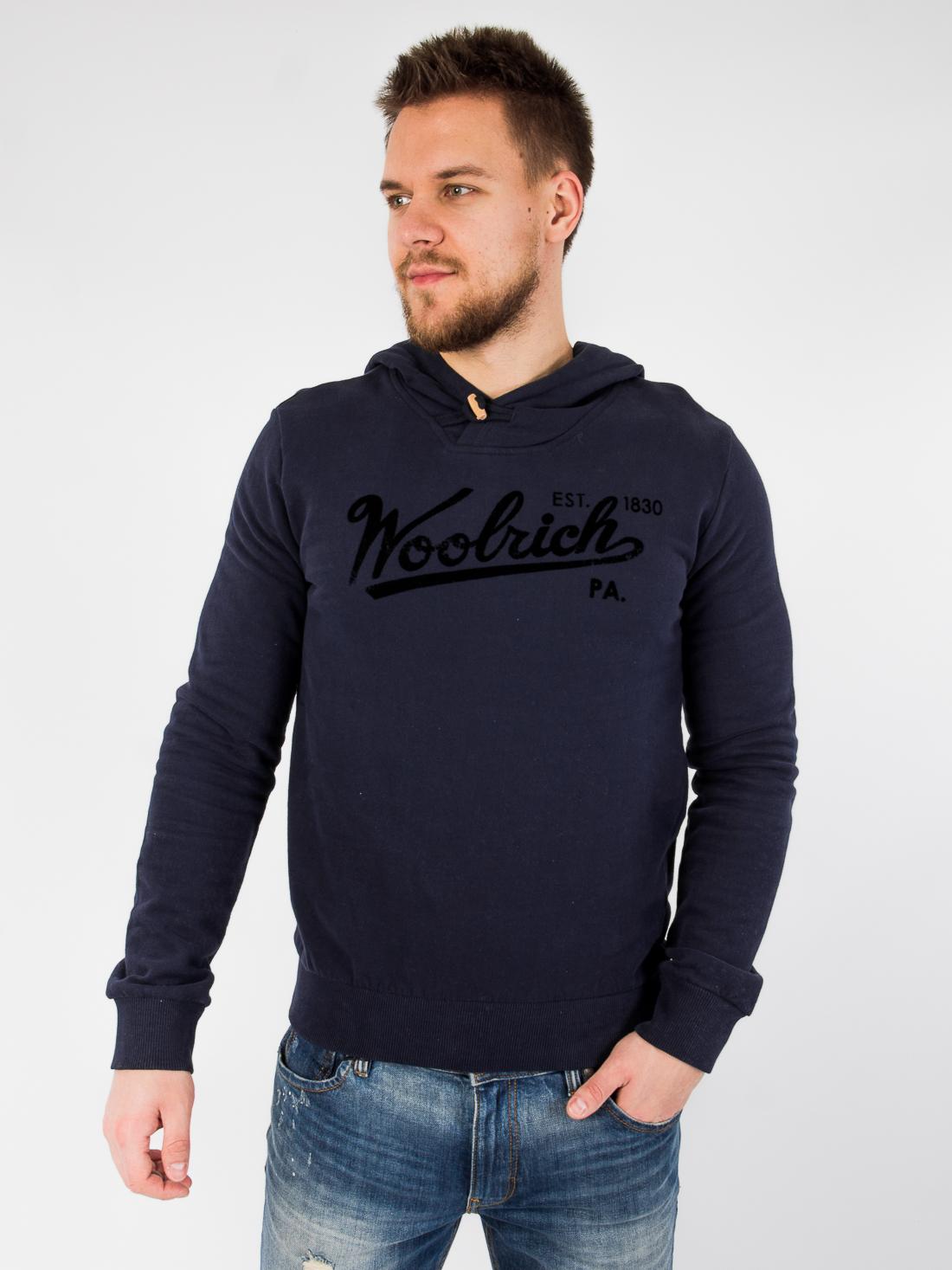 Худи с капюшоном Woolrich Синий Free Style