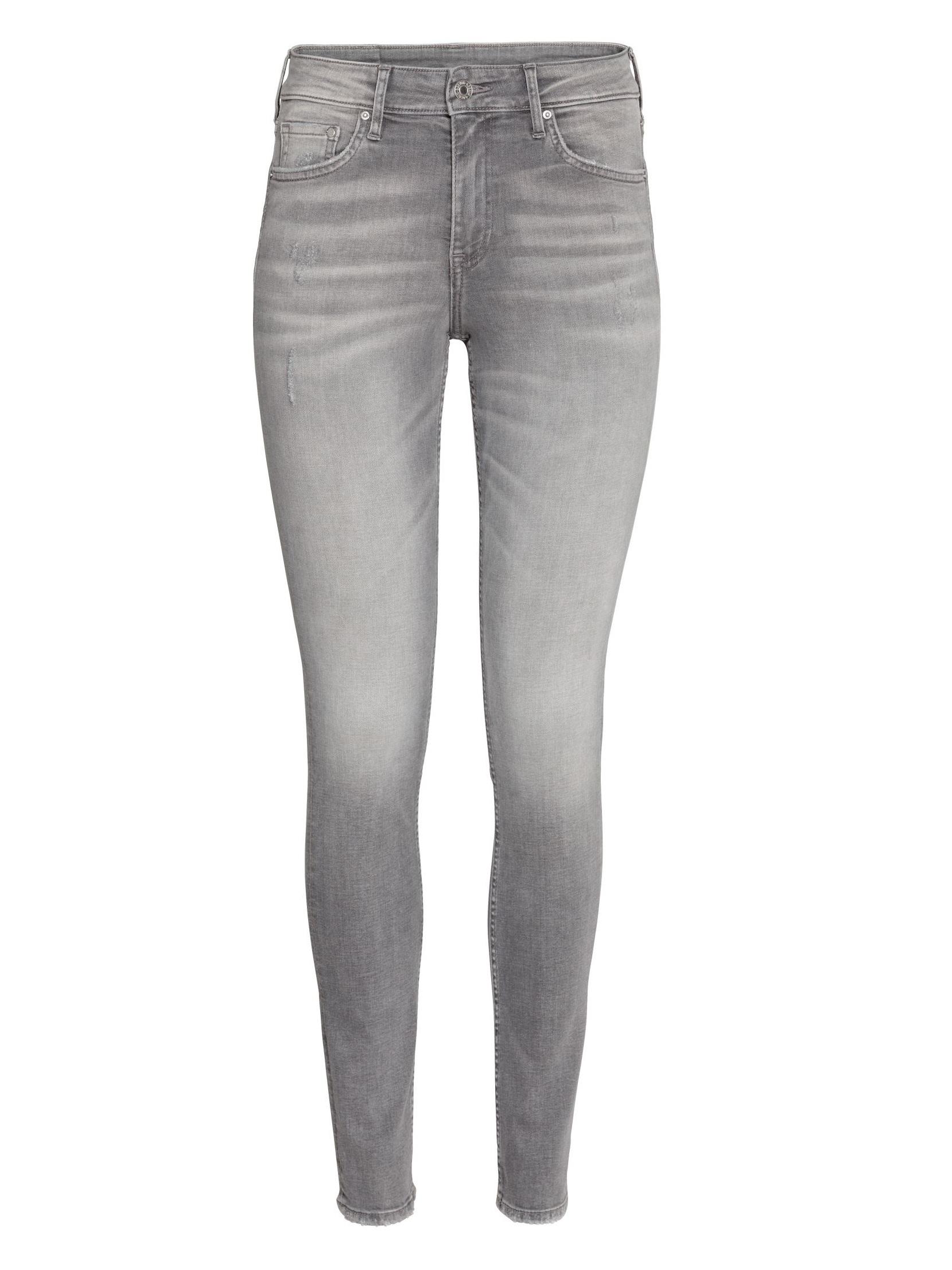 Джинсы H&M 496819 Серый Free Style
