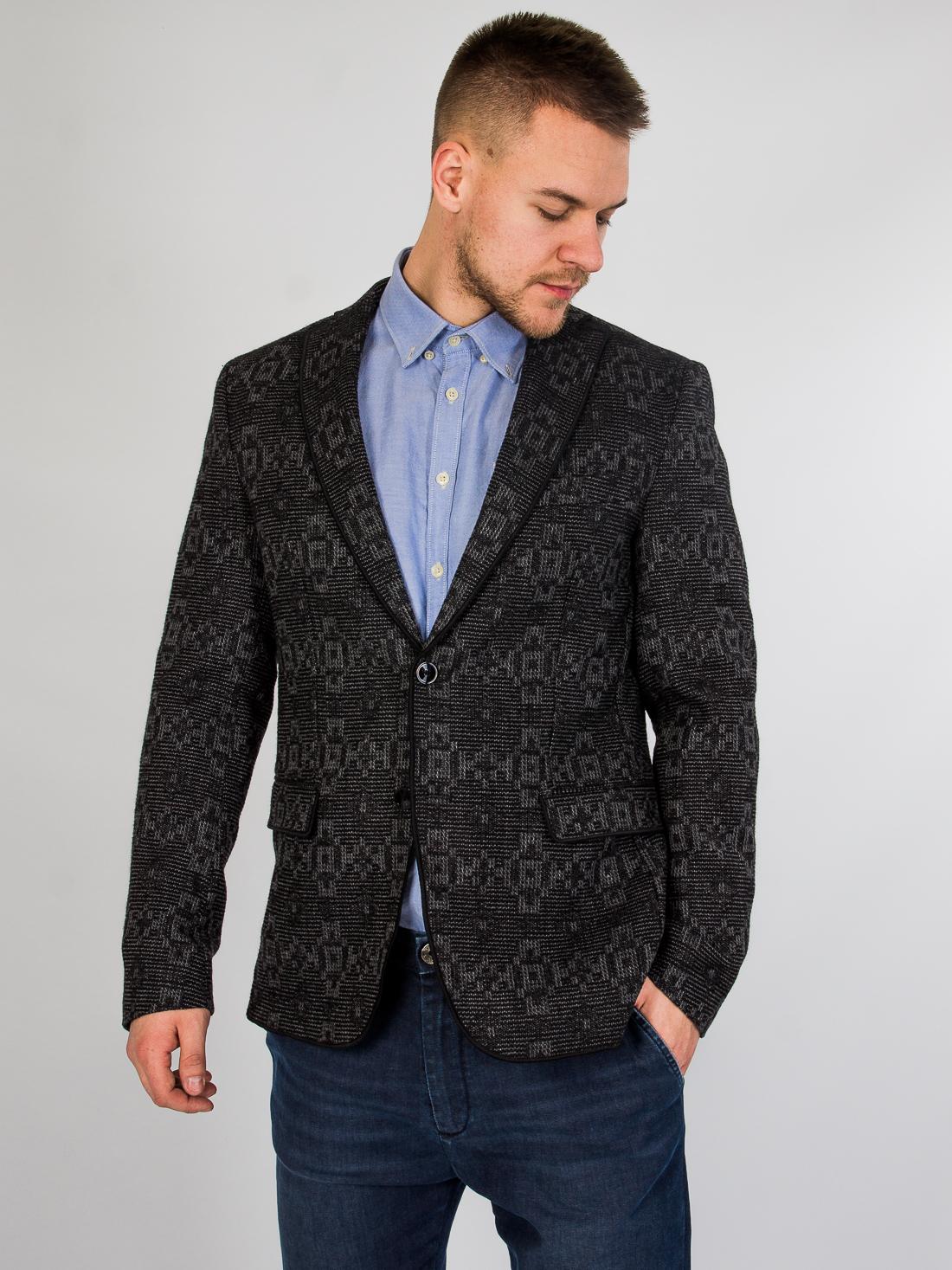 Шерстяной пиджак Zara Серый Free Style