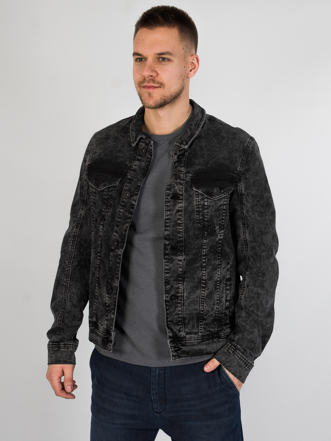 Джинсовая куртка Tom Tailor 3555189 Серый Free Style