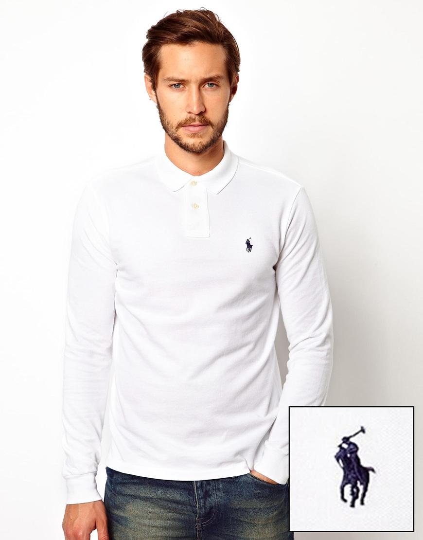 Футболка-поло с длинным рукавом Polo Ralph Lauren Белый Free Style