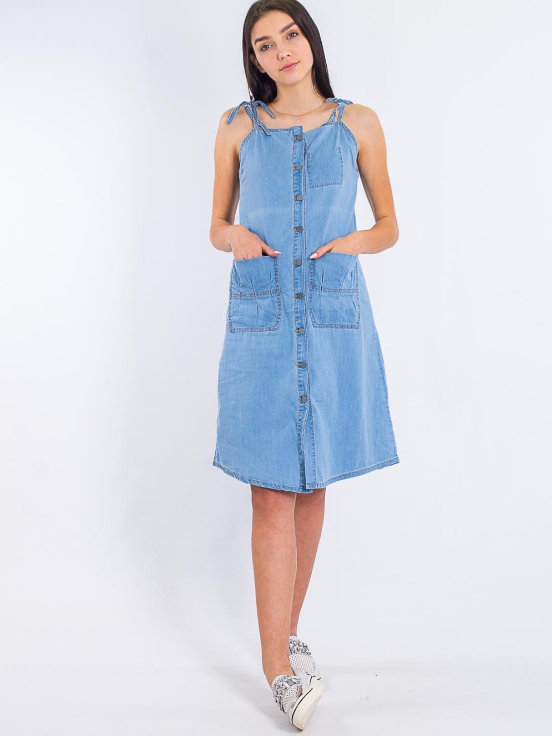 Джинсовое платье Lost Ink 1201115021520024 Синий Free Style