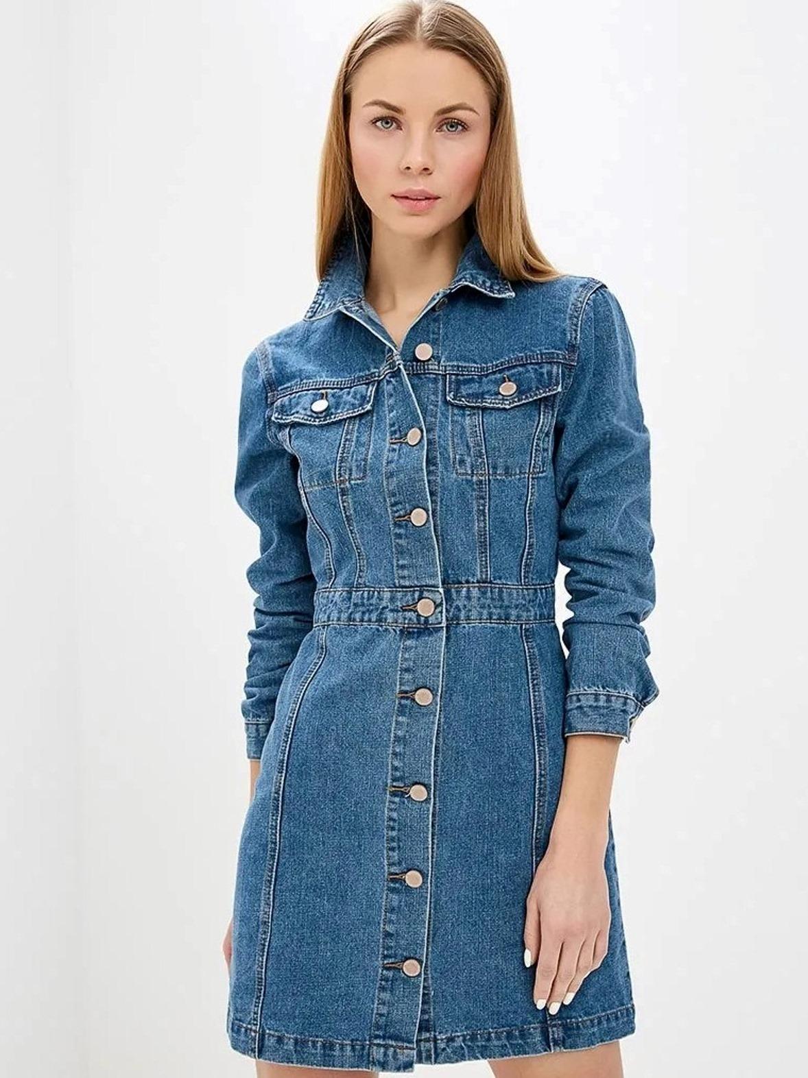 Джинсовое платье Lost Ink 1201115020600025 Синий Free Style