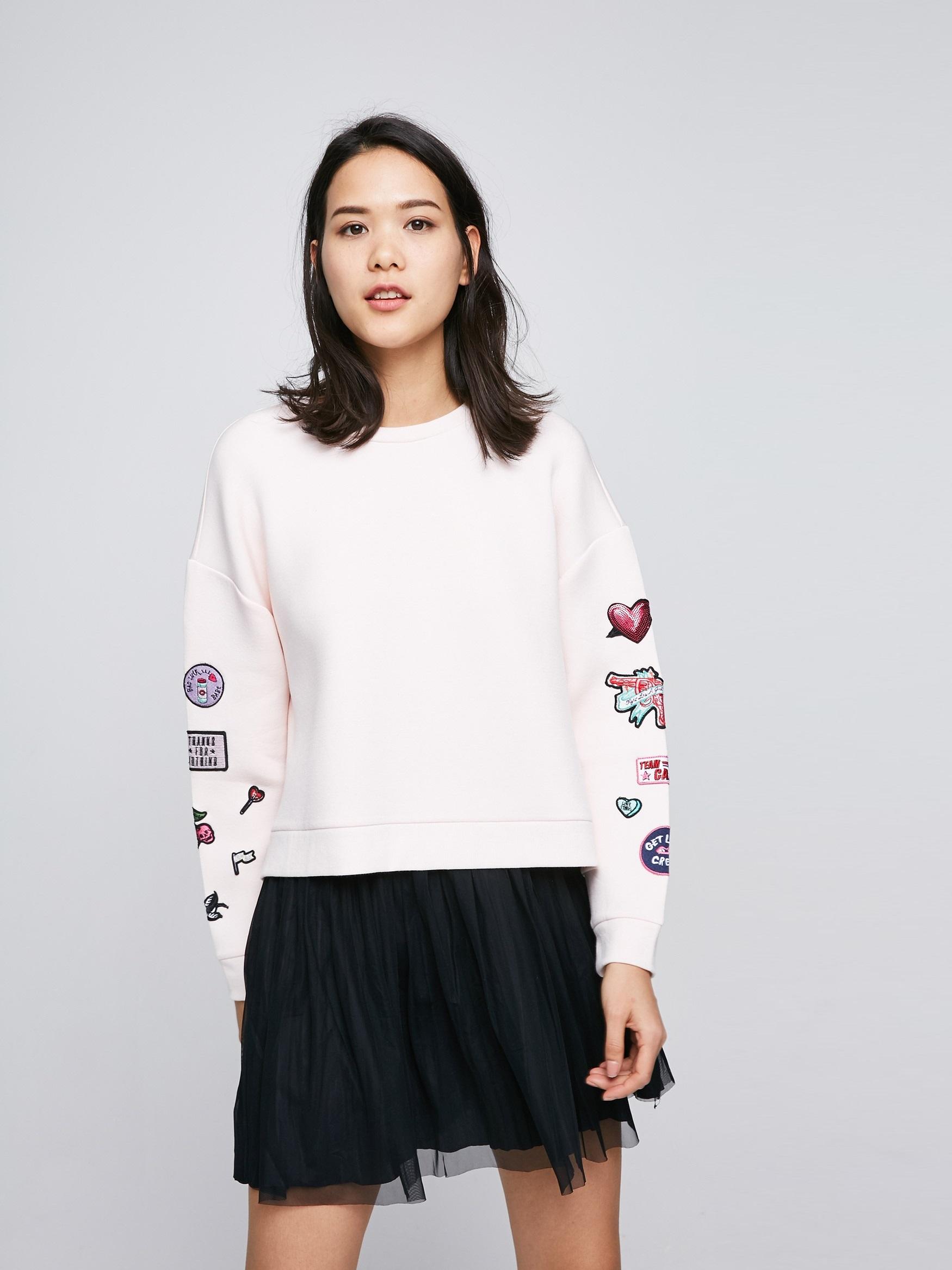 Комплект из свитшота  и юбки Only 117160503 розовый и черный Free Style