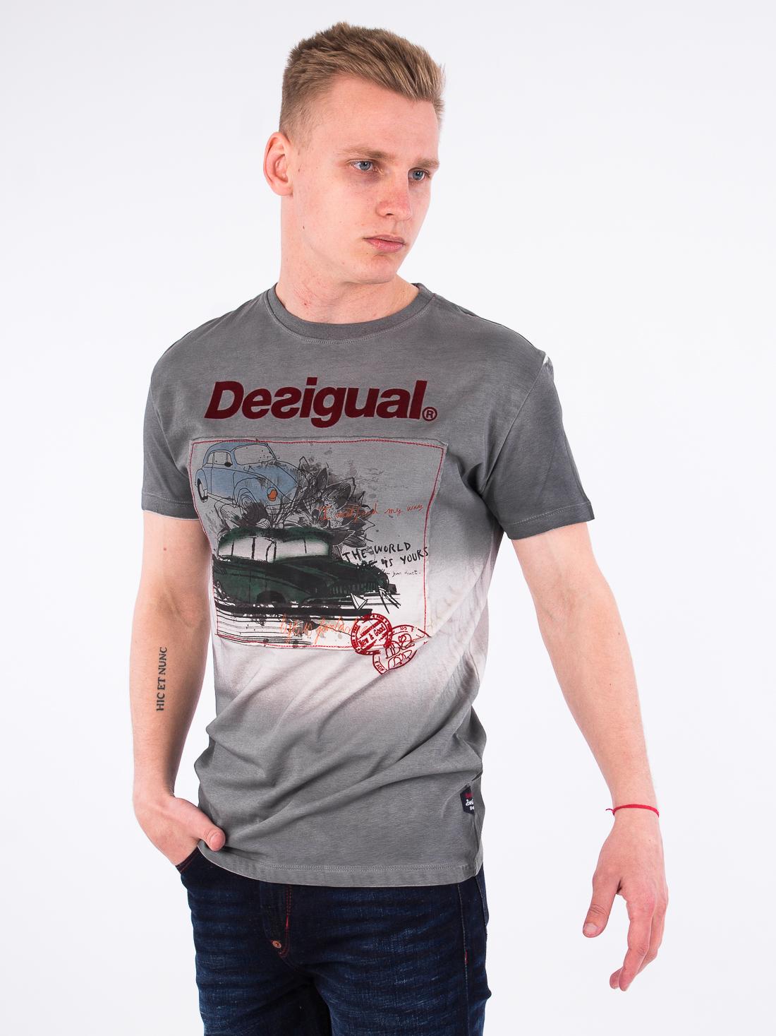Футболка Desigual 17wmtkbi  Серый Free Style
