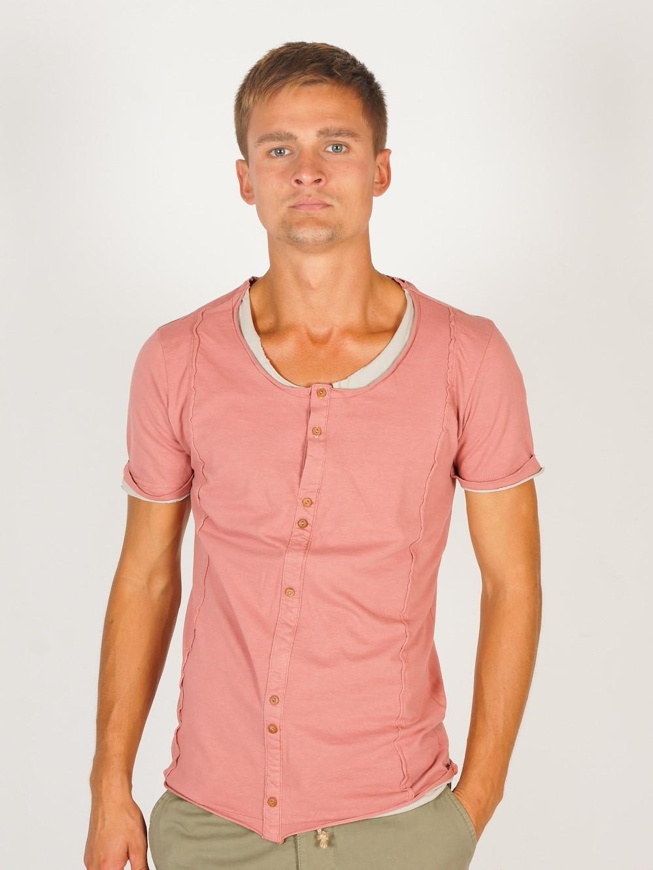 Футболка винтажного цвета Primo Emporio TABACCO  Коралловый Free Style