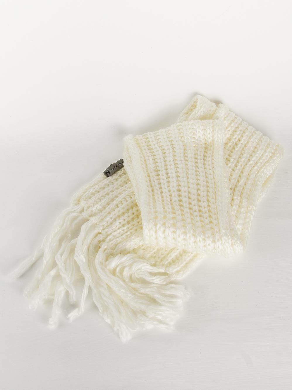 Шарф крупной вязки Guarapo Белый Free Style